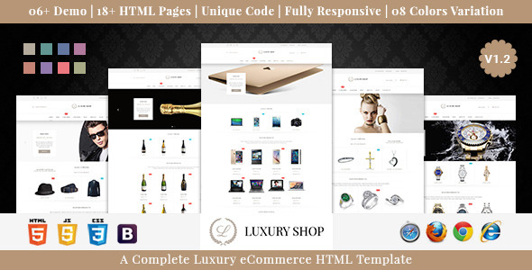 Luxury Shop eCommerce HTML Template - Shopping Retail