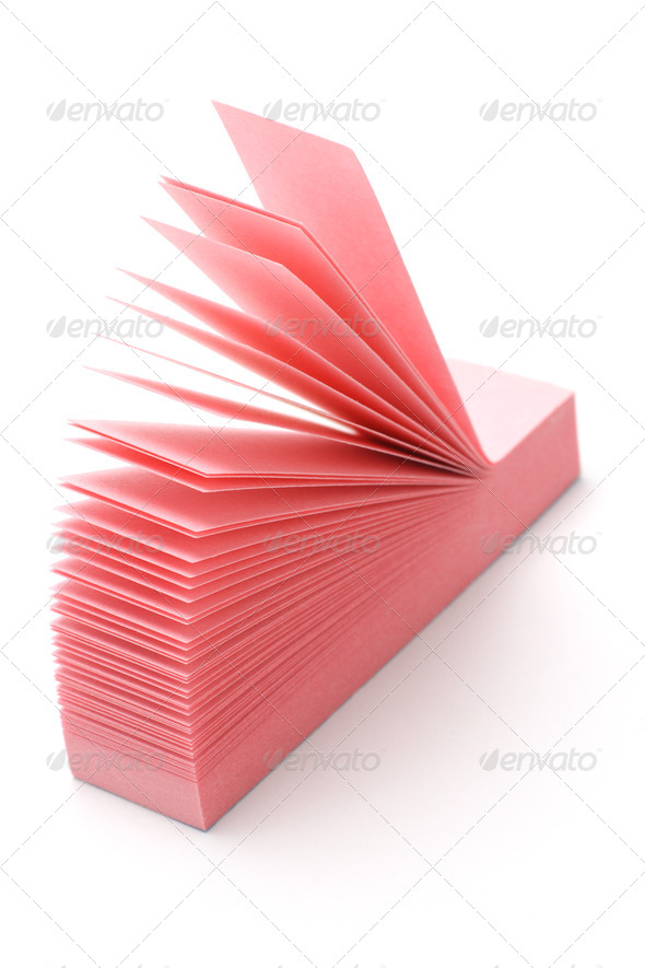 Pink narrow post-it - Stock Photo - Images