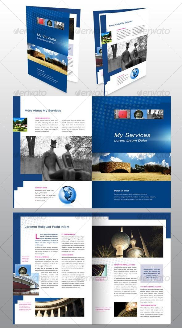 4 page A4 Brochure, Modern, Design, Architecture - Corporate Brochures