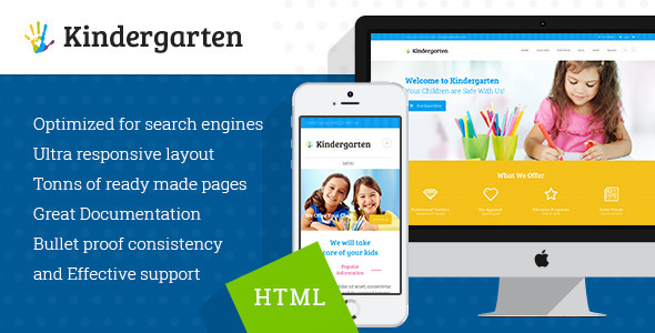 Kindergarten – Children HTML Theme