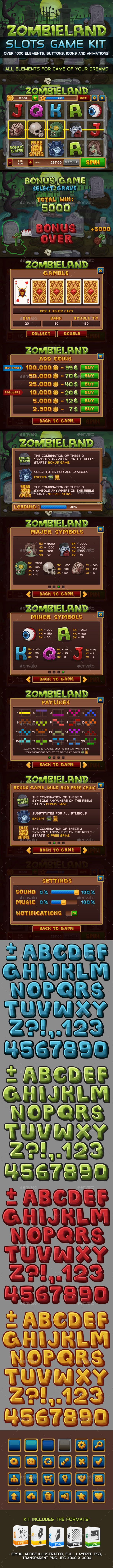 Zombieland slots game KIT - Game Kits Game Assets