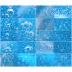 Oxygen bubbles in blue clear water