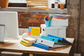 Stack of files on table in creative office - PhotoDune Item for Sale