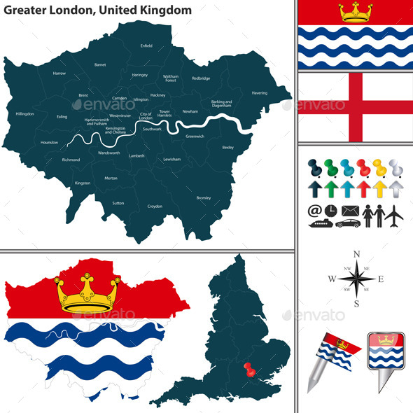 Greater London, UK - Travel Conceptual
