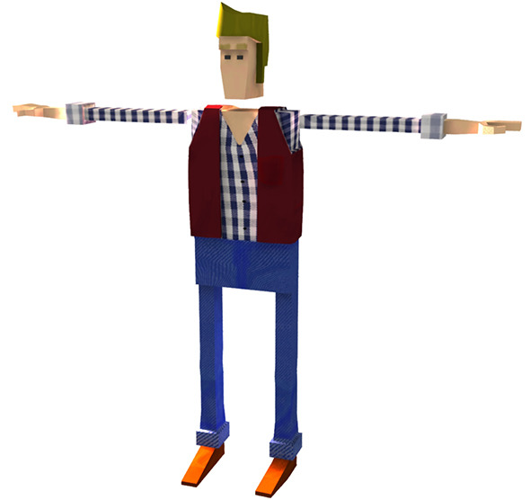 "Low Poly Character Rigged ""Nolan"" - 3DOcean Item for Sale"
