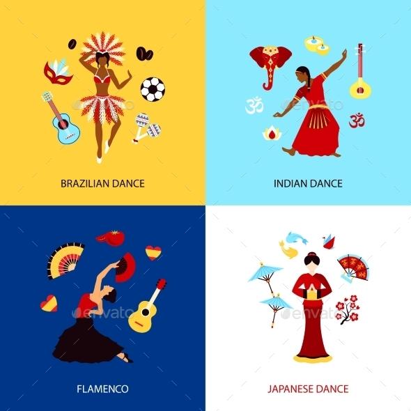 Woman Dancing Design Concept