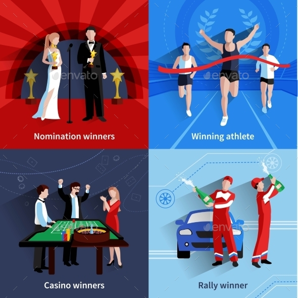 Winning Icons Set - Sports/Activity Conceptual