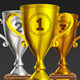 Collection Of Sports Trophies To The Winners - GraphicRiver Item for Sale