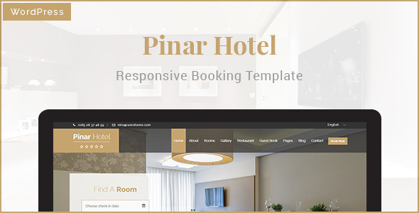 Pinar Hotel – WordPress Booking Template