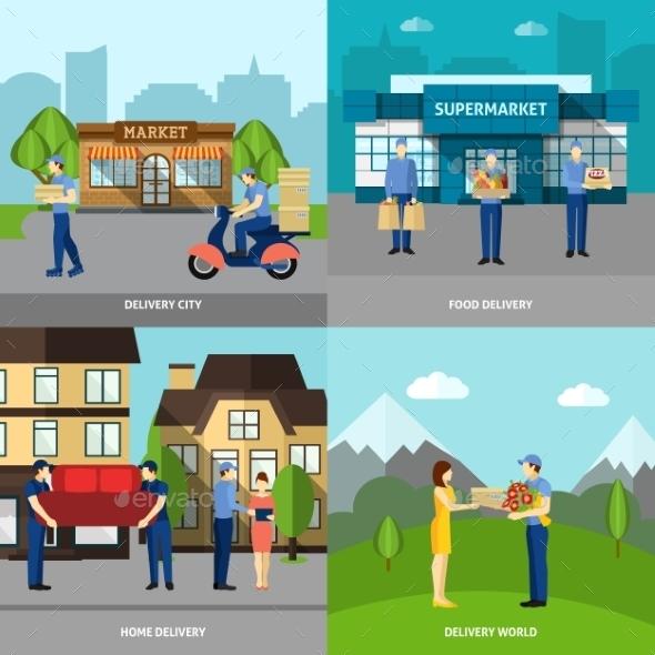 Delivery Icons Set - Miscellaneous Conceptual