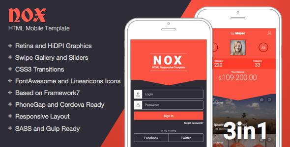 NOX | Mobile Responsive Template