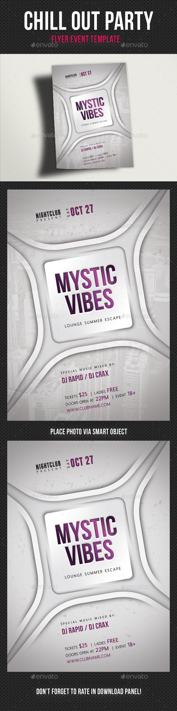 Chill Out Mystic Vibes Flyer - Clubs & Parties Events