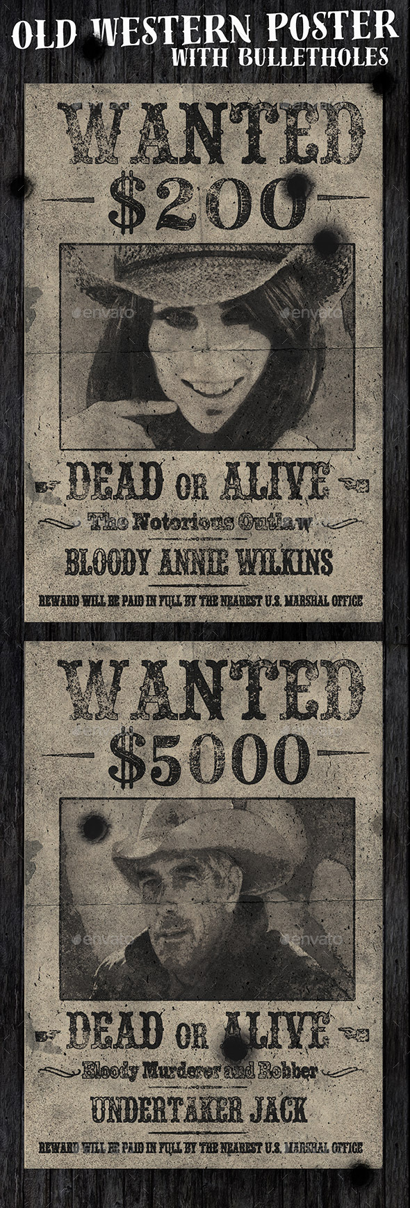 Old Western Vintage Wanted Poster - Miscellaneous Events