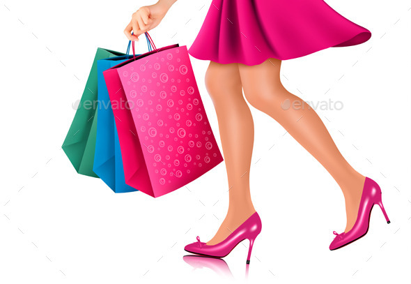 Waist-down View Of Shopping Woman - Commercial / Shopping Conceptual
