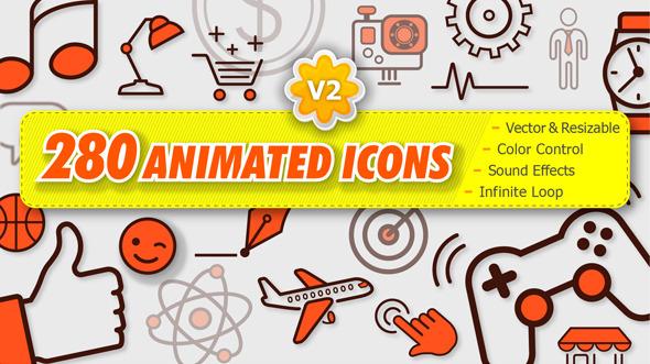 280 Animated Icons