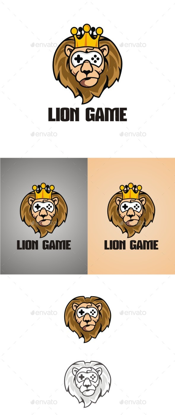 Lion Game - Animals Logo Templates