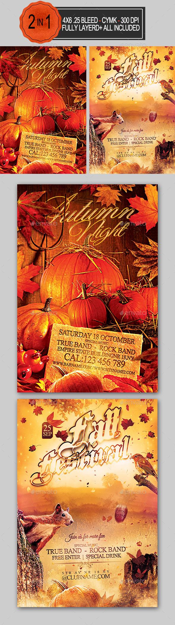 Autumn Flyer Bundle - Holidays Events