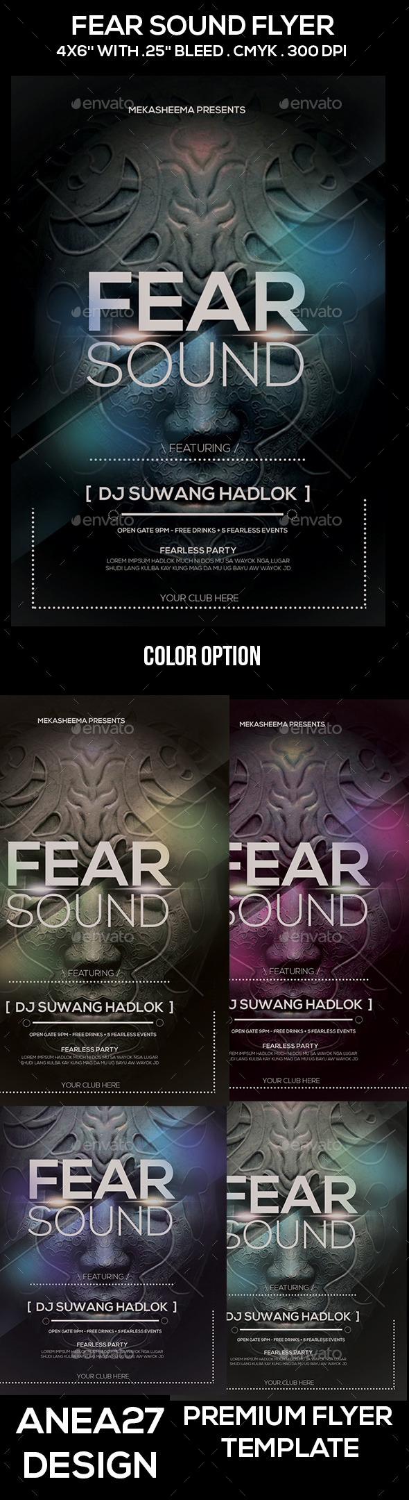 Fear Sound Flyer - Clubs & Parties Events