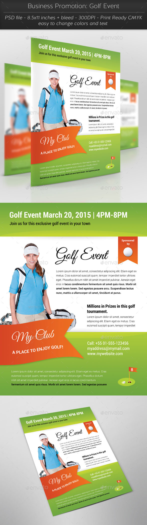 Business Promotion: Golf Event - Flyers Print Templates