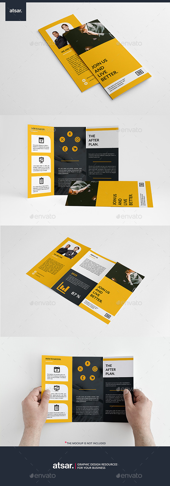 Yellow Corporate Trifold - Corporate Brochures