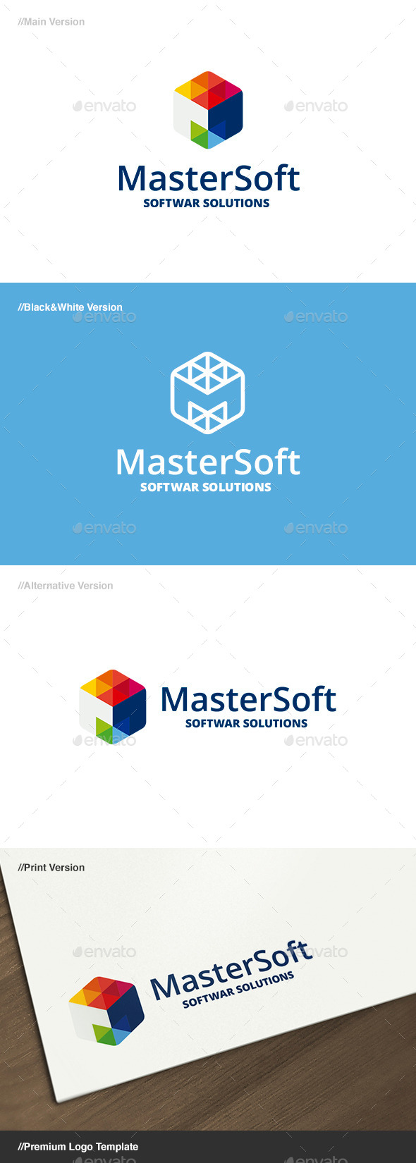 Master Soft - Letter M Logo - Letters Logo Templates