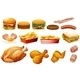 Fastfood in Various Types - GraphicRiver Item for Sale