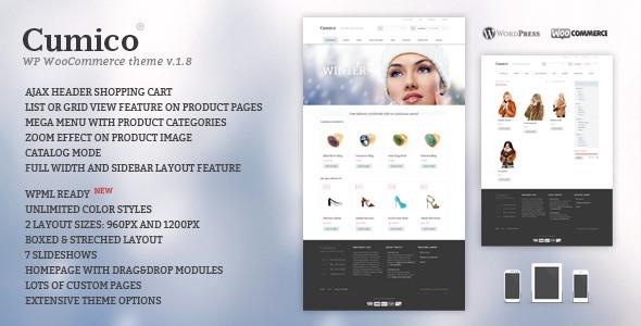 Cumico WP eCommerce theme by disgogo | ThemeForest