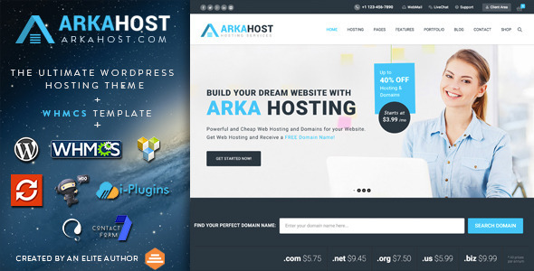 Arka Host – WHMCS Hosting, Shop & Corporate Theme