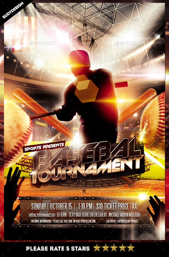 Baseball Tournament Flyer By Rudydesign  Graphicriver