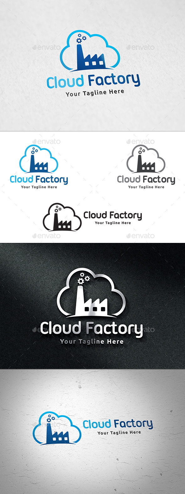 Cloud Factory Logo - Buildings Logo Templates