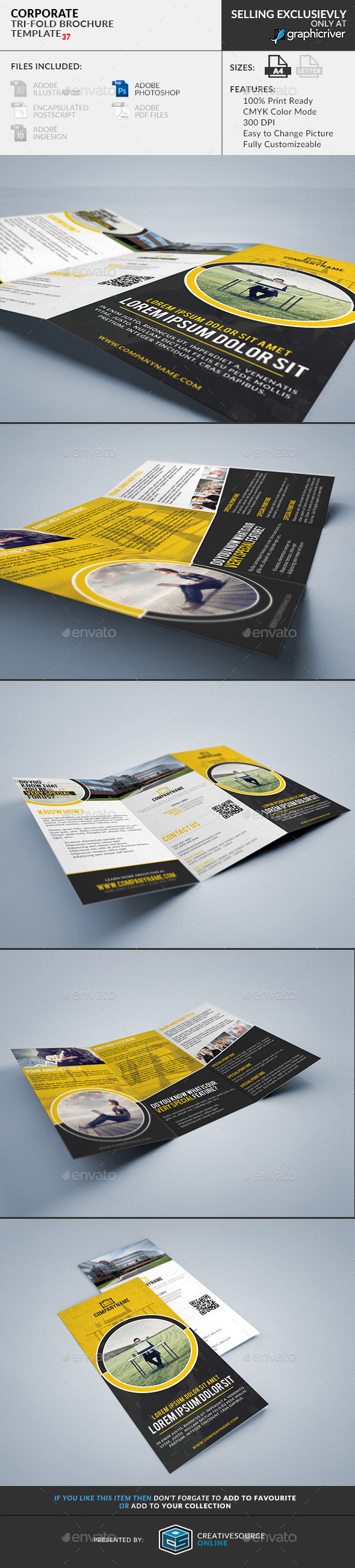 Trifold Brochure 37: Corporate - Corporate Brochures