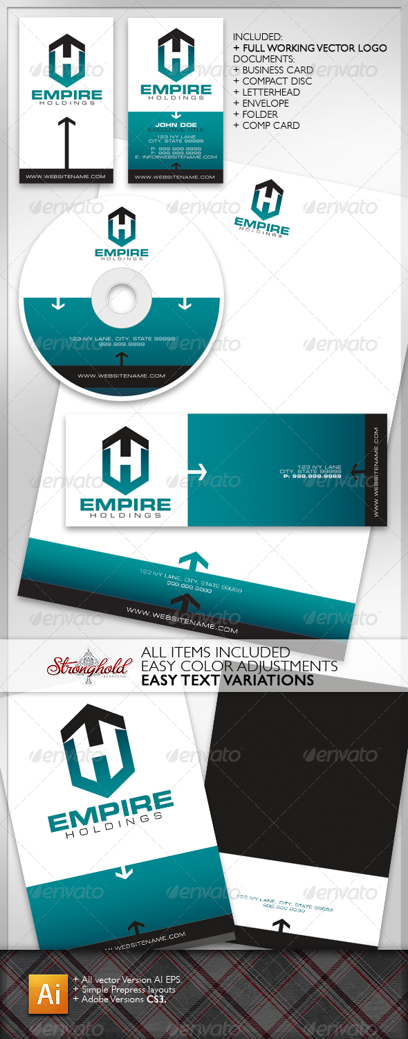 Empire Holdings Brand Kit - Stationery Print Templates