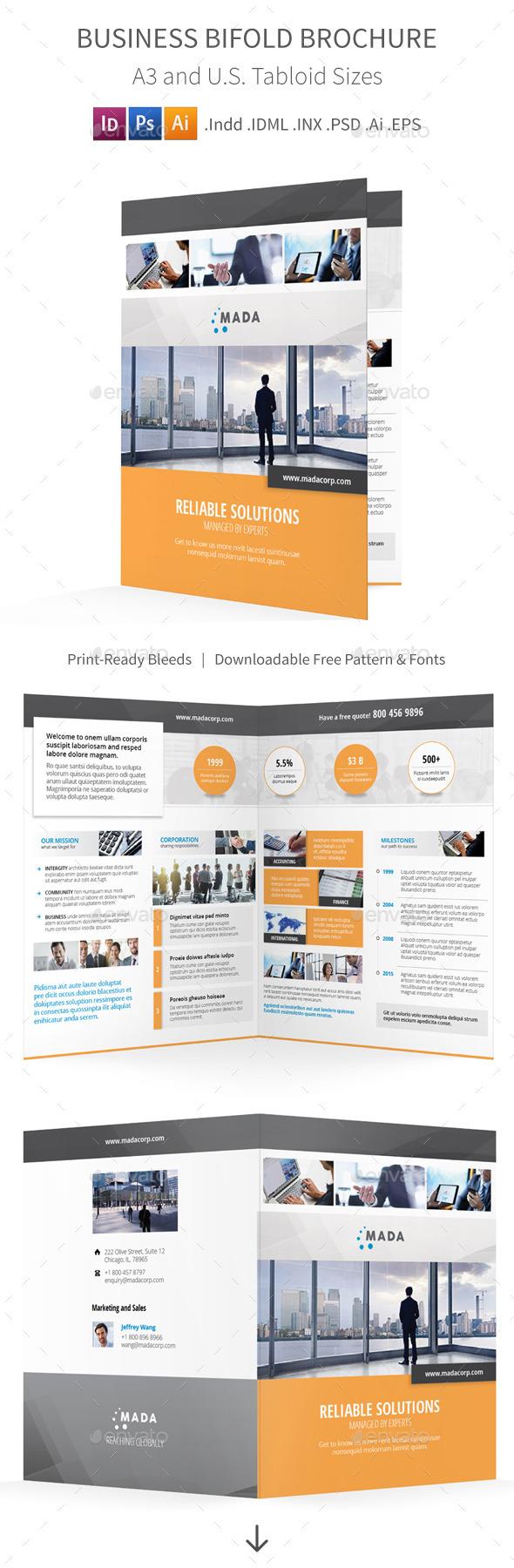 Business Bifold / Halffold Brochure - Corporate Brochures