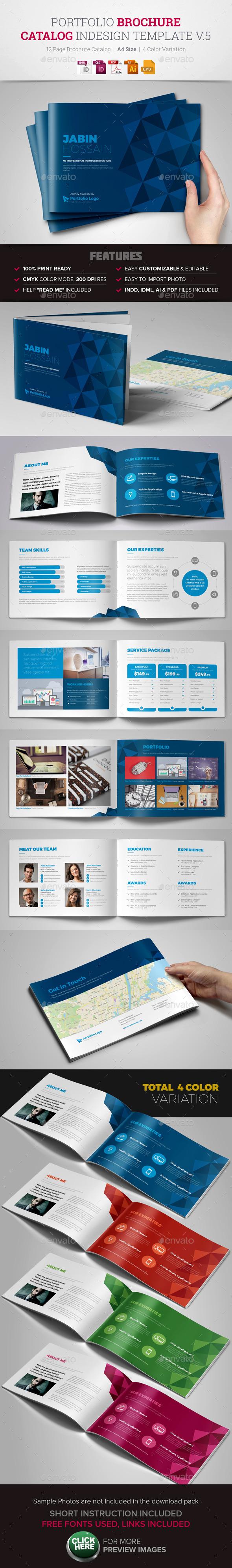 Portfolio Brochure InDesign Template v5  - Corporate Brochures
