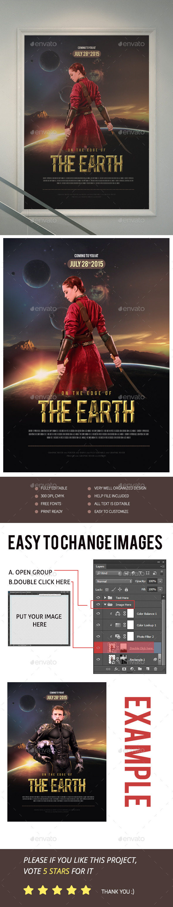 On The Edge Of The Earth Movie Poster/Flyer - Events Flyers