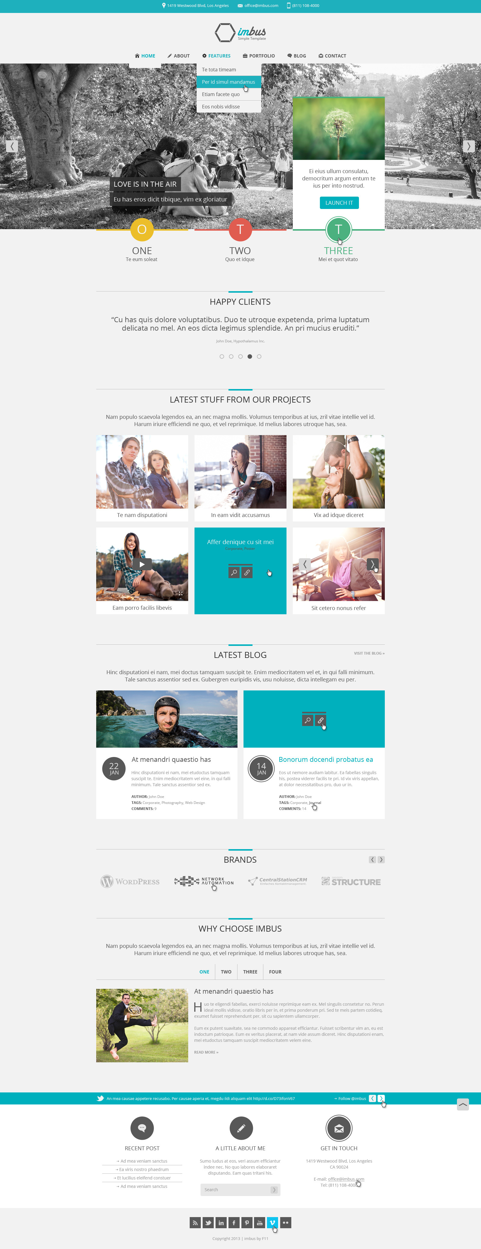 imbus simple html template by granth themeforest