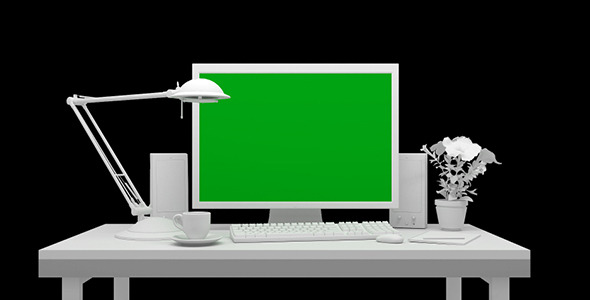 Elements of an Interior With Green Screen