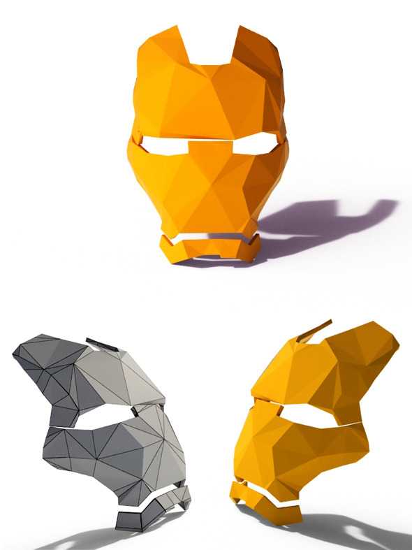 Low Poly Iron Man Mask - 3DOcean Item for Sale