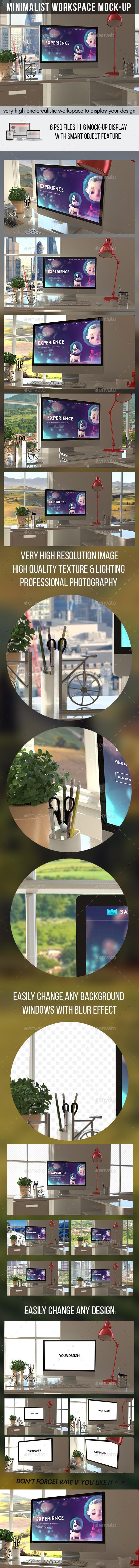Minimalist Workspace Mockups