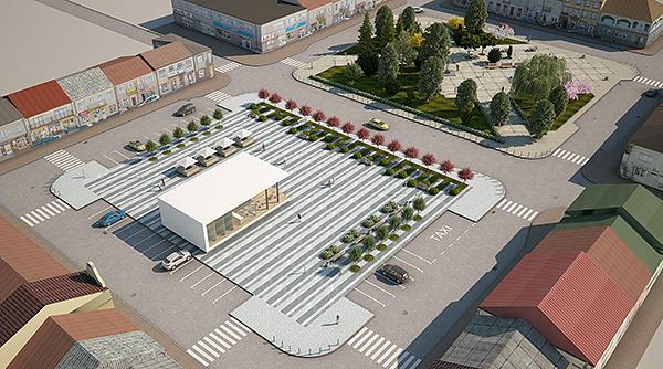 City Plaza Market Square Full Scene