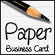 Paper Business Card - GraphicRiver Item for Sale