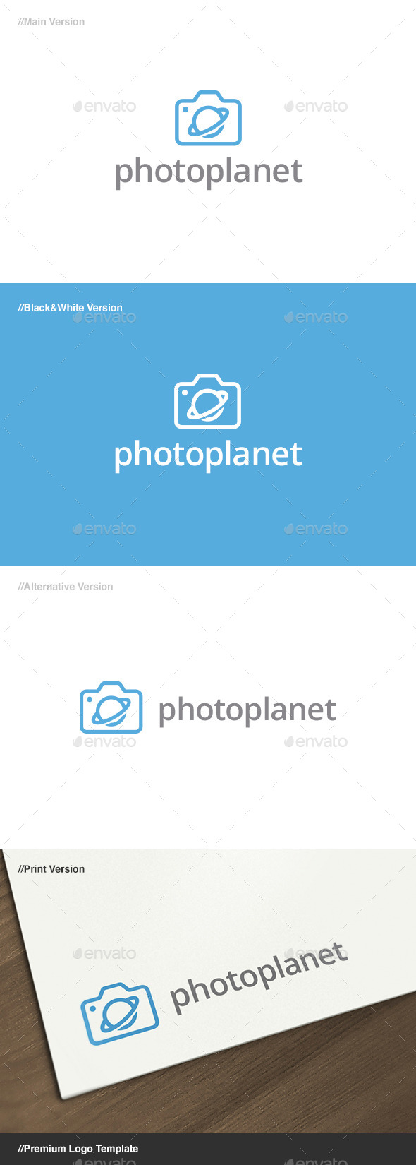 Photo Planet Logo - Objects Logo Templates