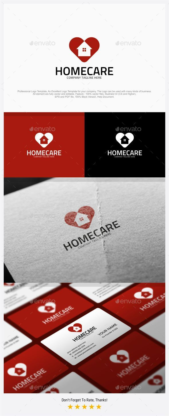 Homecare - Love Home Logo - Symbols Logo Templates