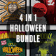 4 Halloween Poster Bundle - GraphicRiver Item for Sale
