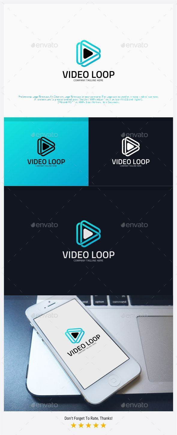 Video Loop - Infinite Media Logo - Symbols Logo Templates