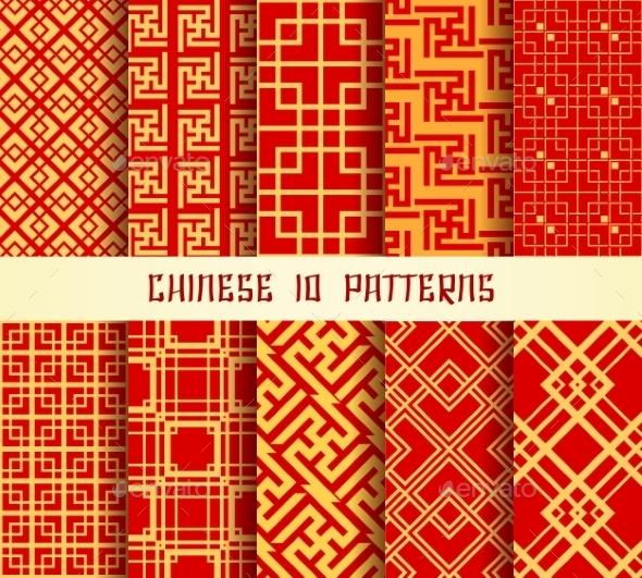 Chinese Pattern Set - Patterns Decorative