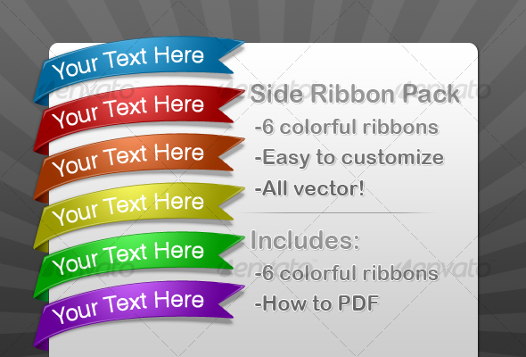 Side Ribbon Pack - Web Elements