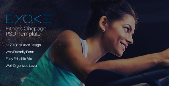 Eyoke – Fitness Onepage PSD Template