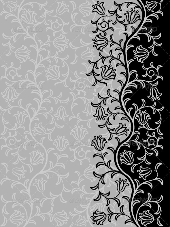 Vintage floral background - Patterns Decorative