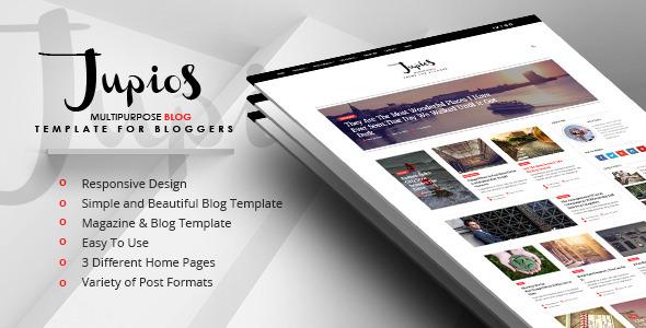 Jupios – Responsive Blog & Magazine HTML Template